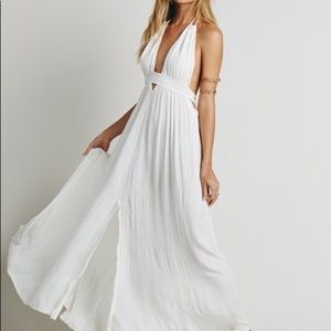 Free People Look into the Sun Maxi Dress, white, S